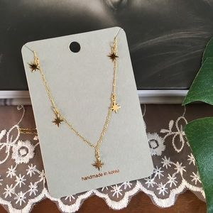 Star Dainty Gold Charm Necklace